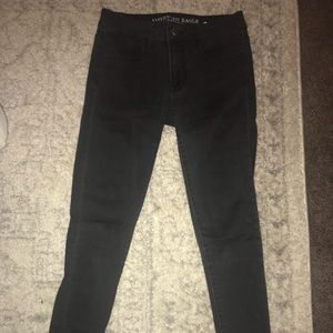 American Eagle Black Jeggings 2 Short